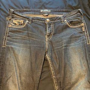 Silver brand skinny jeans plus size 34x31